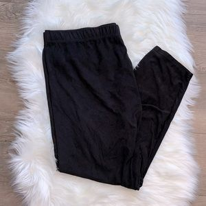 🖤 French Laundry Vegan Suede Lounge Pants